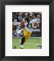 Framed Troy Polamalu with the ball 2013