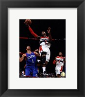 Framed John Wall 2013-14 Action