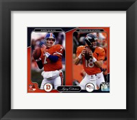 Framed John Elway & Peyton Manning Legacy Collection