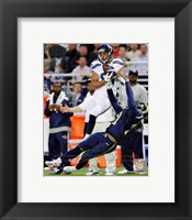 Framed Golden Tate Catching Football
