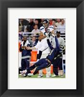 Framed Golden Tate Catching Football