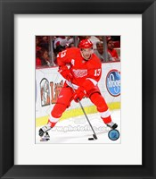 Framed Pavel Datsyuk 2013-14 hockey