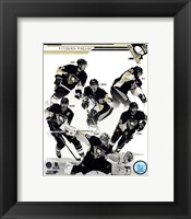 Framed Pittsburgh Penguins 2013-14 Team Composite