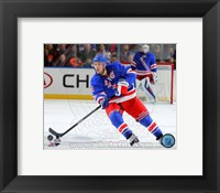 Framed Ryan Callahan on ice 2013-14