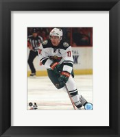 Framed Zach Parise 2013-14 Action