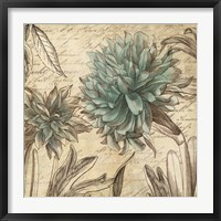 Framed Blue Botanical I