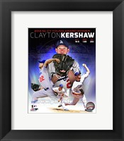 Framed Clayton Kershaw 2013 National League Cy Young Winner Portrait Plus