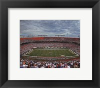 Framed Sun Life Stadium University of Miami Hurricanes 2013