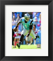Framed Cam Newton 2013 Action