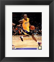 Framed Kobe Bryant 2013-14 Action