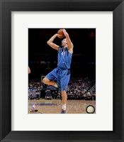 Framed Dirk Nowitzki 2013-14 Action