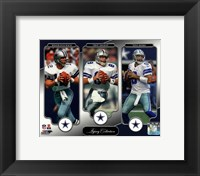 Framed Roger Staubach, Troy Aikman, & Tony Romo Legacy Collection