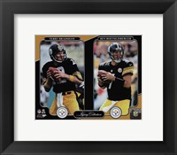 Framed Terry Bradshaw & Ben Roethlisberger Legacy Collection