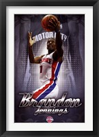 Framed Detroit Pistons - B Jennings 13