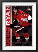 Framed Ottawa Senators - B Ryan 13