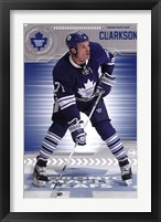 Framed Toronto Maple Leafs - D Clarkson 13