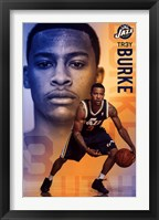 Framed Utah Jazz - T Burke 13