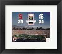 Framed 2014 Rose Bowl Champions Michigan Spartans Vs. Stanford Cardinals