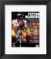 Framed Peyton Manning Single Season TD Record