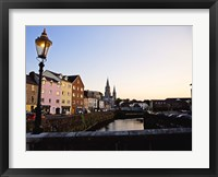 Framed St Finbarr's Cathedral, River Lee (South Channel), Cork City, County Cork, Ireland
