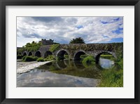 Framed 13 Arch Bridge over the River Funshion, Glanworth, County Cork, Ireland