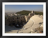 Framed High angle view of an amphitheater, Odeon of Herodes Atticus, Acropolis, Athens, Attica, Greece