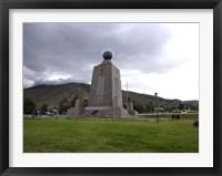 Framed Middle of the World Monument, Mitad Del Mundo, Quito, Ecuador