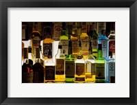 Framed Bottles of Liquor, De Luan's Bar, Ballydowane, County Waterford, Ireland