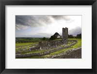 Framed Remains of the Church on St Patrick's Hill, Slane, Co Meath, Ireland