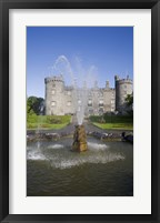 Framed Kilkenny Castle - rebuilt in the 19th Century, Kilkenny City, County Kilkenny, Ireland
