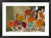 Framed Close-up of lollipops, Hippie Market, San Carlos de Bariloche, Rio Negro Province, Patagonia, Argentina