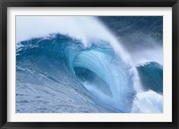 Framed Cool Blue Wave in the Sea