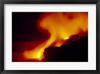 Framed Lava from an Erupting Volcano, Big Island, Hawaii