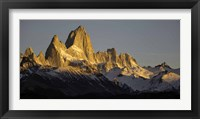 Framed Sun Reflecting off Mt Fitzroy, Argentine Glaciers National Park, Santa Cruz Province, Patagonia, Argentina