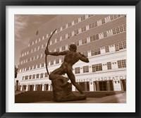 Framed Archer, University Of California, Los Angeles, California, USA
