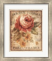 Framed Parisian Flowers II