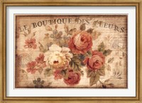 Framed Parisian Flowers III
