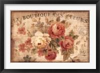 Framed Parisian Flowers III