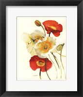 Red and White Icelands II Framed Print