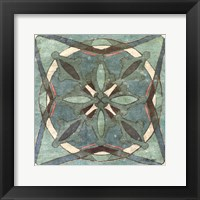 Framed Tuscan Tile Blue Green II