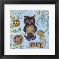 Framed Peace Owl