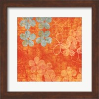 Framed Orange Floral