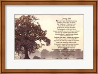 Framed Living Life Sepia Tree