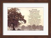 Framed Living Life Sepia Tree