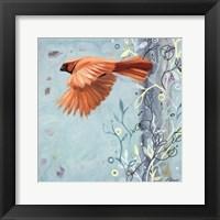 Framed Bird In Flight