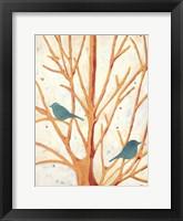 Framed Two Birds In an Orange Tree