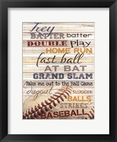 Framed Hey Batter Batter