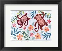Framed Swinging Monkeys