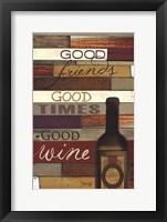 Framed Good Wine