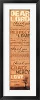 Framed Family Prayer